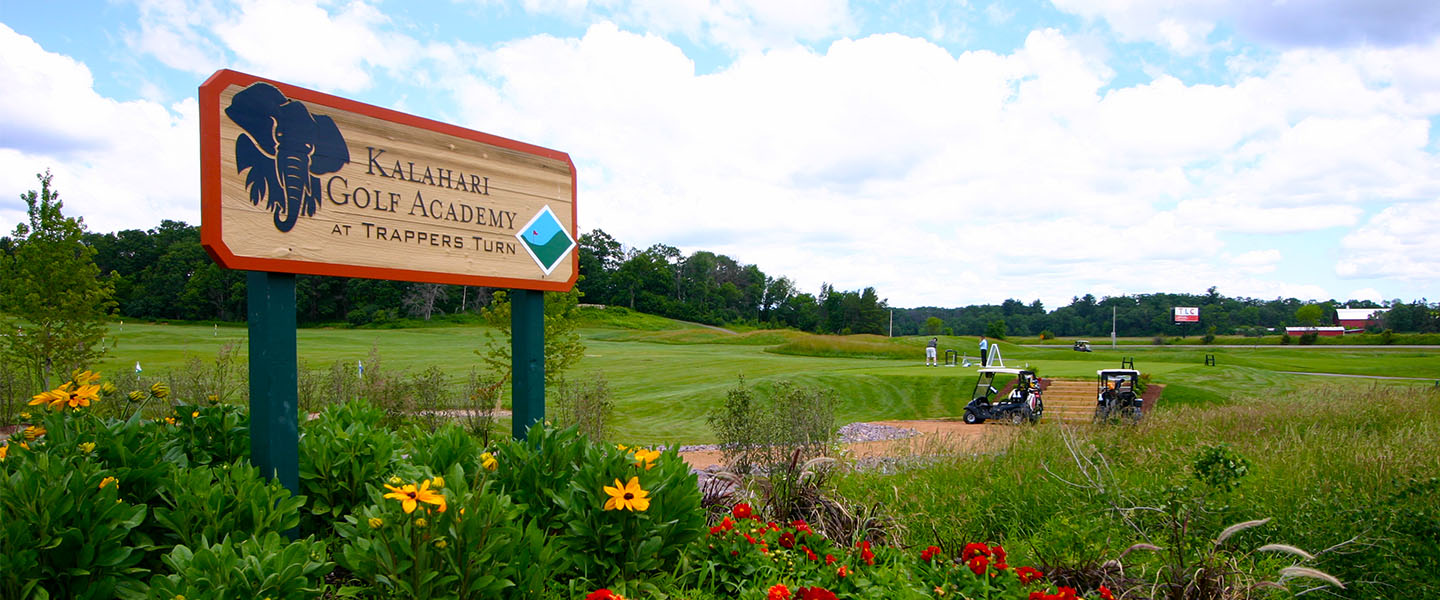 Kahalari Golf Academy at Trappers Turn sign.