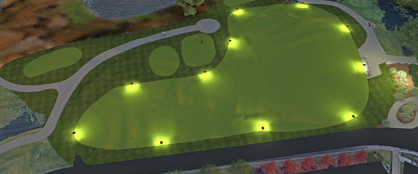 Rendering of the new putting greens at Trappers Turn.